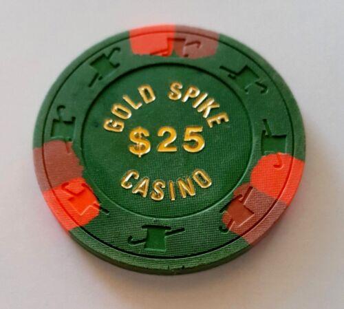 $25 Las Vegas Gold Spike Casino Chip - Near Mint