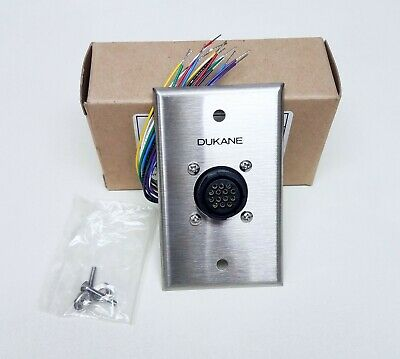 New Dukane Ge 110-3284 Master Connector Wall Plate Assy - Procare Nurse Call