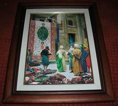 Arabischer Teppichhändler Orient Gemälde (Öldruck)