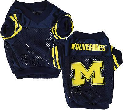 Navy Dog Football Jersey - Sporty K-9 NCAA Michigan Wolverines Football Dog Jersey