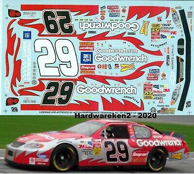 NASCAR DECAL #29 GOODWRENCH 2003 MONTE CARLO KEVIN HARVICK BUD SHOOTOUT SLIXX