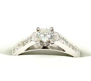 18ct White Gold & Diamond Ring Revesby Bankstown Area Preview