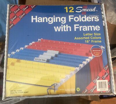 Smead Hanging File Folders With 18 Metal Frame Letter Size 12 Green Folders