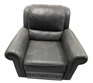 New Decoro Recliner Sofa Foot Rest Green Leather Family