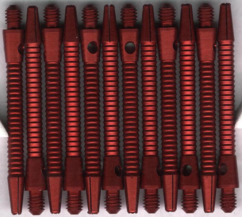 2in. 2ba Red RAZOR Aluminum Dart Shafts: 3 per set