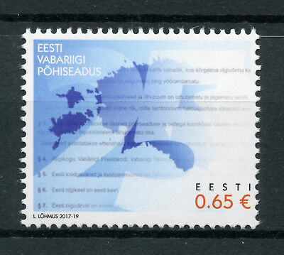 Estonia 2017 MNH Constitution 25 Years 1v Set Politics Independence Stamps