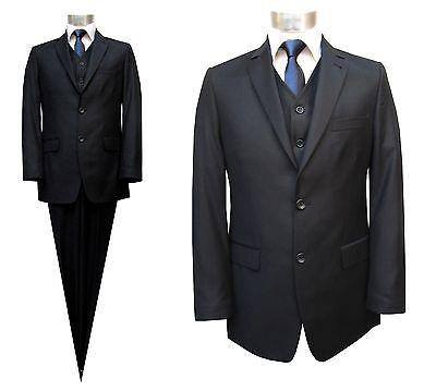 Elegante Herren Anzug 3-teilig Gr.48 Dunkelblau