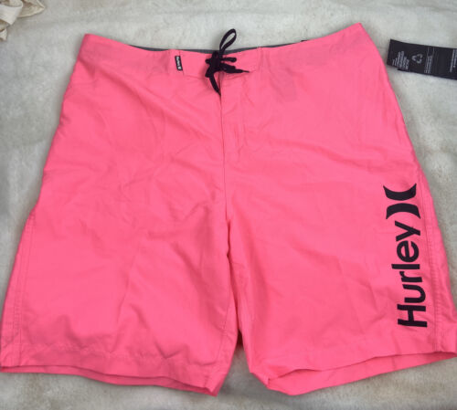 Men's Hurley One & Only 2.0 Board Shorts, Size 38 - Pink