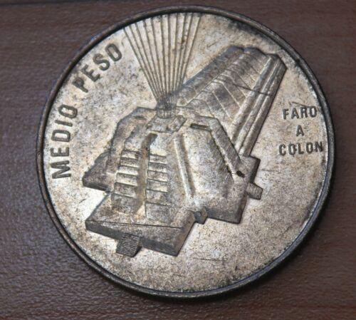 1989 Dominican Republic 1/2 Peso