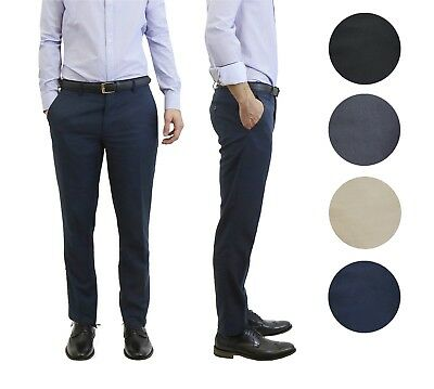 Mens Formal Pants - Mens Belted Slim Fit Dress Pants Flat Front Multiple Colors Mens Formal Trousers