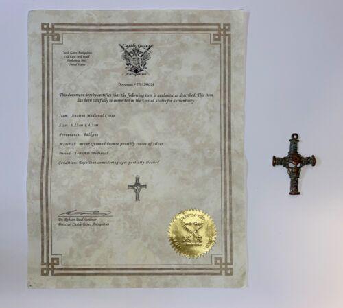 Ancient Medieval Cross; COA Balkans; Mori: Approximately 1400 AD; Lot #1