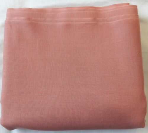 "Vintage Peach Solid Linen Fabric Material 35"" x 232"" (~19.3ft)"