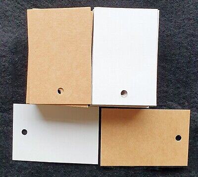 100 Unstrung 60x35 Or 85x55mm Kraftwhite 275gsm Board Price Tags Free Pp
