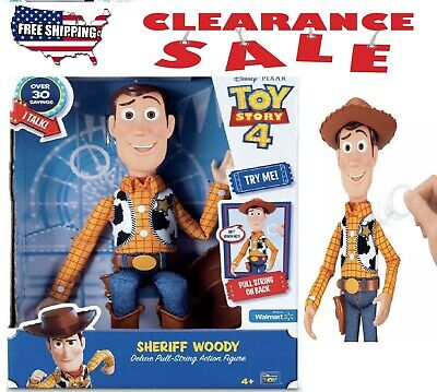 "Toy Story 4 SHERIFF WOODY Pull-String 12"" Action Figure Disney-Pixar 64452"