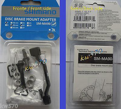 XTR - Adattatore anteriore originale Shimano XTR PM-PM 180mm SM-MA90-F180P/P-NEW