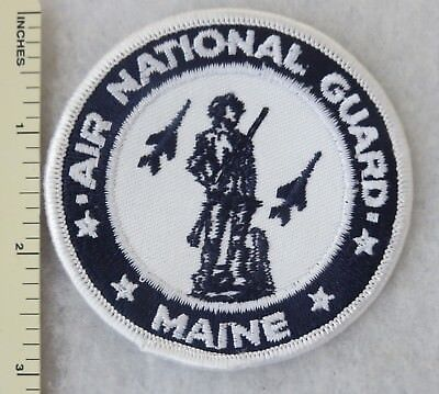 MAINE AIR NATIONAL GUARD US AIR FORCE PATCH (3 Inch) Vintage USAF ANG ORIGINAL