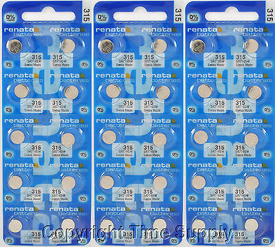 30 Pcs 315 Swiss Renata Watch Batteries Sr716sw Sr716sw 0...