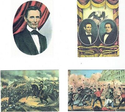 CIVIL WAR OFFICIAL CURRIER & IVES COMPLETE 16 CARD AMERICAN HISTORY FACT SET NM ()