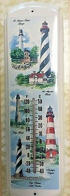 Cape Lighthouses In The US,Beach,River,Ocean-Metal Thermometer`New->Free To (Beach Thermometer)