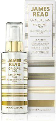 James Read H2O Tan Mist for Face 100ml LIGHT/MEDIUM Gradual Self-Tan Spray