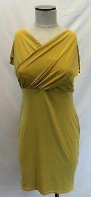 Boohoo Women's Plus Isobel Off Shoulder Bodycon Dress AH7 Desert Sand Size US:12