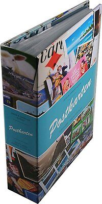 Lighthouse postcard album with 50 clear pocket sheets for up to 200 postcards