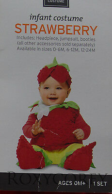 Halloween Infant Plush Jumpsuit Strawberry Costume Size 12-24 months NWT - Strawberry Halloween Costume