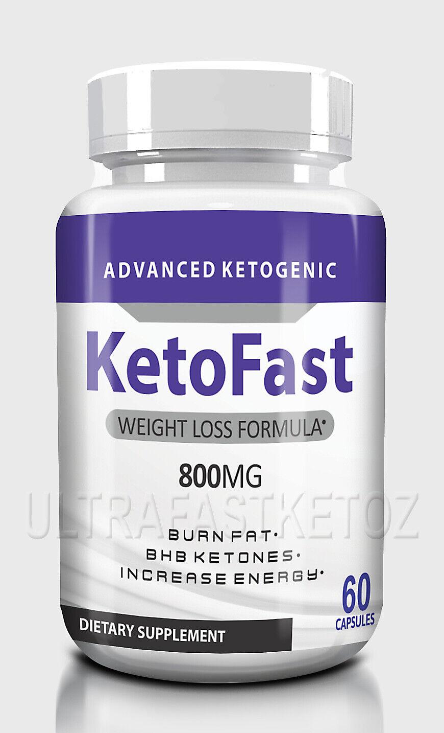KETOFAST ADVANCED  WEIGHT LOSS 60 caps KETOSIS SUPPORT KETO FAST