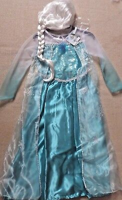 Fancy Dress Up Costume Outfit +Musical Broach~BNWT~7-8 Years (Frozen Dress Up Outfit)
