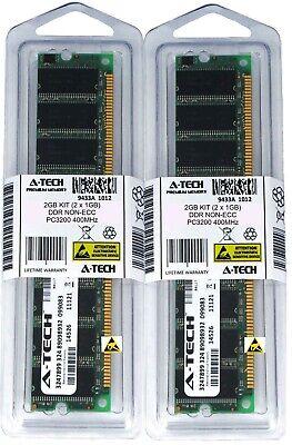 400 Mhz Ddr1 Desktop (A-Tech 2GB 2 x 1GB PC3200 DDR 400 MHz Desktop DDR1 DIMM 184-Pin Memory RAM 2G)