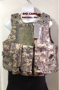MOLLE DIGI CAMO PAINTBALL VEST