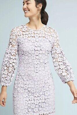 NEW $418 Shoshanna Vina Lace Dress Size 0 Petite Lavender Purple ()