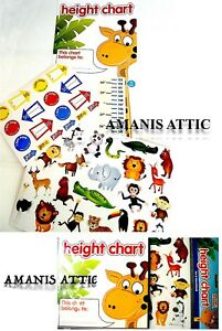 Height Chart Children Kids Giraffe Jungle Animal Design - 40 Stickers Included