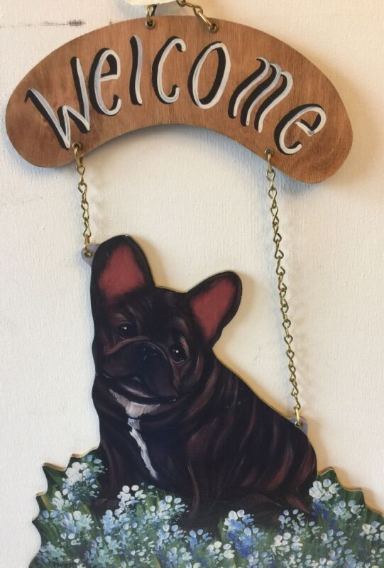 French Bulldog Welcome Sign Handmade