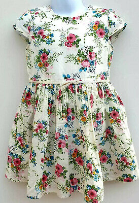 Floral Dress For Girls (Baby Girls Floral Dress Capped Sleeve Ex N*XT Age 12 18 24 Months 2 3 4 5)