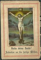Estampa Antigua Jesus Crucificado Andachtsbild Santino Holy Card Santini -  - ebay.es