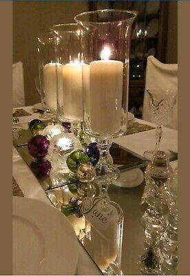 6 Flared Pedestal Cylinder Vases Wedding Glass Table Centerpiece Candle -