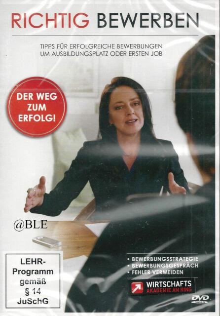 DVD + Richtig Bewerben + Bewerbung + Strategie + Bewerbungsgespäch + Job + Tipps