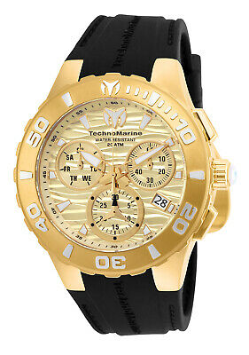 Technomarine Men's TM-115079 Medusa Gold & Gold Dial  44mm Swiss Watch
