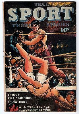 TRUE SPORT PICTURE STORIES VOL.2 #8 4.0 OFF-WHITE PAGES GOLDEN AGE
