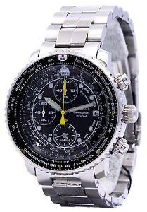 Seiko Flight Alarm Chronograph SNA411P1 Pilot's Flight Master Men's Watch