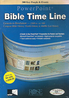 BIBLE TIME LINE POWERPOINT PRESENTATION - CD from Rose Publishing **Brand New** - Bible Time Line