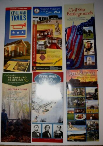 STATE OF VIRGINIA, HISTORICAL PACKET, Six (6) AMERICAN CIVIL WAR FLYERS, New
