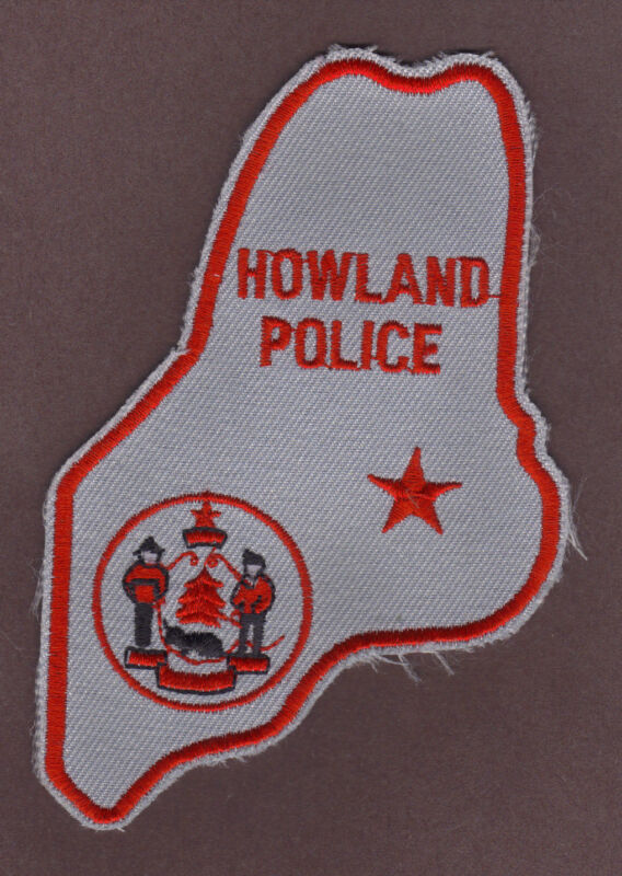 Howland Maine NEW Reserve Police Department Cut Edge Uniform Patch
