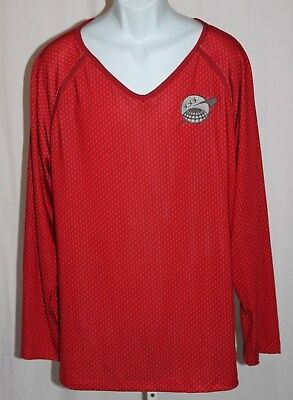 2009 Star Trek Kostüm (2009 Star Trek Engineering Red Long Sleeve Shirt Rubie's Costume Mens Size Large)