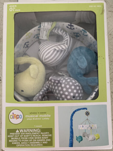 Circo Musical Mobile Whales And Waves New Box Worn Free Ship