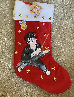Vintage 2000 Harry Potter Christmas Stocking with Original Tags - Brand New