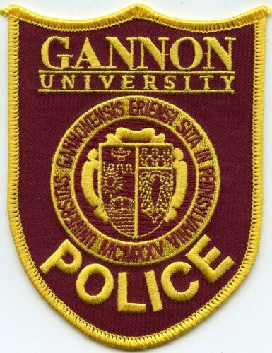 GANNON UNIVERSITY Erie PENNSYLVANIA PA CAMPUS POLICE PATCH
