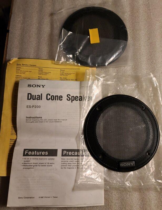 2 Sony Dual Cone ES-P200 Speaker Covers plus original installation instructions