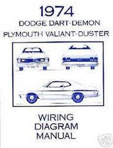 1974   Dodge      Dart   Demon   Wiring      Diagram   Manual